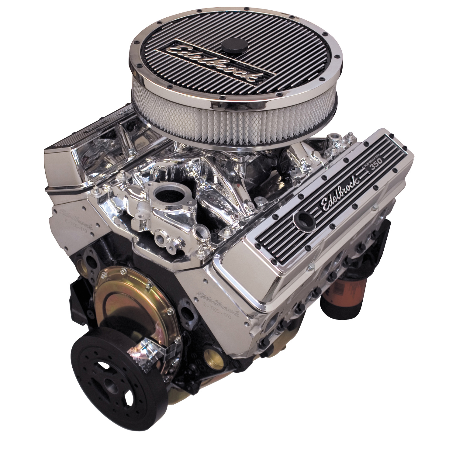 Edelbrock 45904 Edelbrock Performer Small Block Chevy RPM E-TEC 435 Crate  Engine No Water Pump